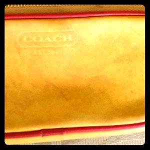 COACH leather sunglass case